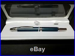Pilot Vanishing Point Fountain Pen Blue Carbonesque & Rhodium Fine Nib P60149
