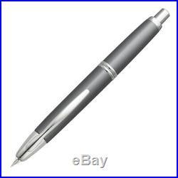 Pilot Vanishing Point Fountain Pen, Gun Metal, Rhodium Trim, 18k Fine Nib
