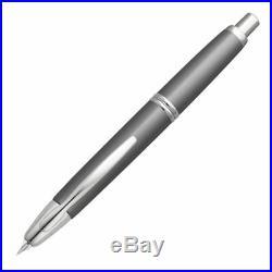 Pilot Vanishing Point Fountain Pen Gunmetal, Rhodium, 18k Gold Fine Nib, 60433