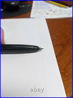 Pilot Vanishing Point Fountain Pen Matte Black 18K Gold Extra Fine Point Nib