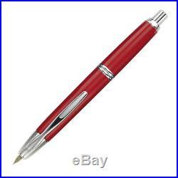 Pilot Vanishing Point Fountain Pen, Red, Rhodium Trim, 18k Fine Nib