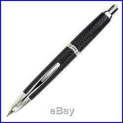 Pilot Vanishing Point Fountain Pen in Black Carbonesque & Rhodium 18K Fine Pt