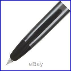 Pilot Vanishing Point Fountain Pen in Gun Metal Gray & Matte Black 18K Fine