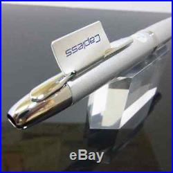 Pilot Vanishing Point Pen Fine nib Silver Rhodium Accents with ConverterCON-40