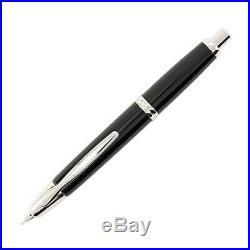 Pilot Vanishing Point Retractable Fountain Pen, Black/Rhodium, Fine (60142)