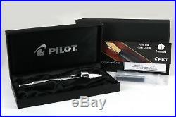 Pilot Vanishing Point Rhodium Plated Stripes FP Fine Nib With Bonus Gift