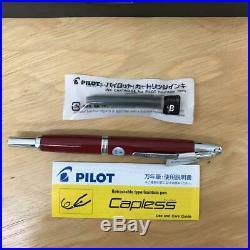 Pilot capless vanishing point deep red nib size f fine boxed black ink japan