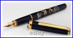 Platinum Classic Maki-e Crane Fine Point Fountain Pen PTL-12000M-18F NEW