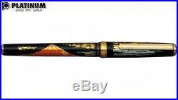 Platinum Classic Maki-e Mt. Fuji Fine Point Fountain Pen- NEW PTL-15000H-58F