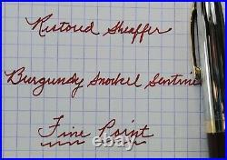Restored Sheaffer EXCELLENT 1ST YEAR Burgundy Snorkel Sentinel Fine Point