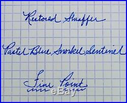 Restored Sheaffer EXCELLENT 1st YEAR Pastel Blue Snorkel Sentinel Fine Point