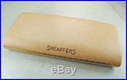 Restored Sheaffer EXCELLENT Black Snorkel Sentinel Fine Point Pen & Pencil