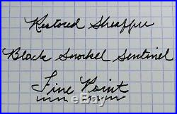 Restored Sheaffer EXCELLENT Black Snorkel Sentinel Pen & Pencil, Fine Point