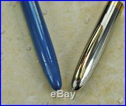 Restored Sheaffer EXCELLENT Pastel Blue Snorkel Sentinel, Fine/Medium Point