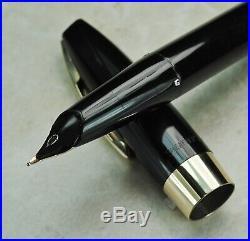 Restored Sheaffer NEAR MINT Black Pen For Men III (PFM III), Fine/Med Point