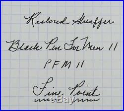 Restored Sheaffer Pen For Men II (PFM II) Fine Point, Excellent Condition