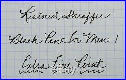 Restored Sheaffer VERY GOOD Black Pen For Men I (PFM I) Extra Fine Point