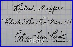 Restored Sheaffer VERY GOOD Black Pen For Men III (PFM III), Extra Fine Point