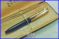 Restored Sheaffer VERY GOOD Blue Pen For Men V (PFM V) Extra Fine Point