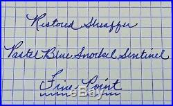 Restored Sheaffer VERY GOOD Pastel Blue 1st YEAR Snorkel Sentinel Fine Point
