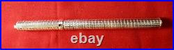 S A Dupont Silver Fountain Pen With 18 K G Fine Point Nib In Excellent Condition