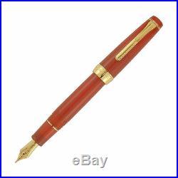 Sailor Pro Gear Regular Fountain Pen in Fire Red Orange 21kt Gold Fine Point