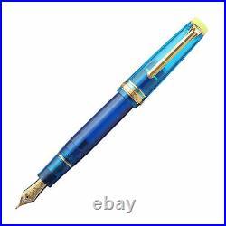 Sailor Pro Gear Regular Fountain Pen in Kure Azur 21kt Gold Medium Fine Point