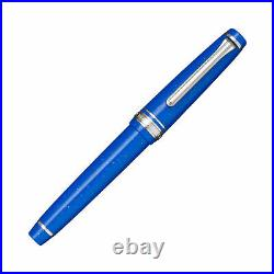 Sailor Pro Gear Slim Fountain Pen in Blue Dwarf 14K Gold Medium Fine Point NEW