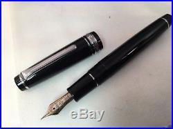 Sailor Professional Gear Black 21K Gold Rhodium Plating Fine Point Fountain Pen