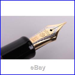Sailor Professional Gear Black GT 21K Gold Fine Point Fountain Pen 11-2036-220