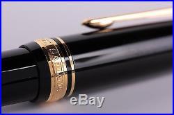 Sailor Professional Gear Black GT 21K Gold Rhodium Plate Fine Point Fountain Pen
