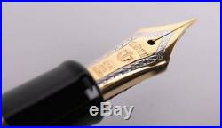 Sailor Professional Gear Gold 24k Fountain Pen, Black, 11-2036-220 Fine Point