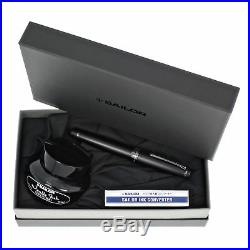 Sailor Professional Gear Imperial Black 21K Gold Fine Point Fountain Pen New