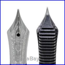 Sailor Professional Gear Slim Fountain Pen Blueberry Silver Trim Fine Point