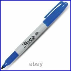 Sharpie Black Fine Point Permanent Markers 4 8 12 24 48 bulk packs NEW GENUINE