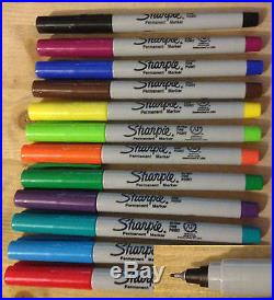Sharpie Ultra Fine Point Permanent Markers 12 Colours single pen Free shipping