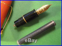 Sheaffer Bexley Fountain Pen RaRE Orange & Gold Fine Point Nib Un Inked balance