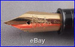 Sheaffer Blue Snorkel fountain pen-working- chrome cap-fine point