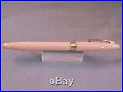 Sheaffer Buckskin Tan Snorkel Fountain Pen-restored-F-2 fine point nib