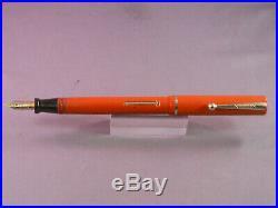 Sheaffer Flat Top Orange Fountain Pen-fine point-slender size