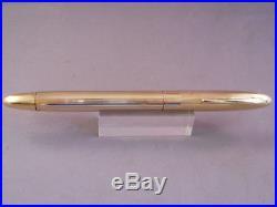 Sheaffer Gold Snorkel Fountain Pen-fine point-restored