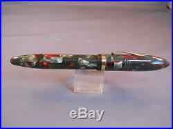 Sheaffer Gray and red Lever Fill Oversized Balance Fountain Pen-fine point