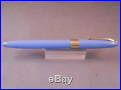 Sheaffer Perwinkle Snorkel Pen-Silver nib-F4 fine point