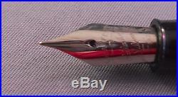 Sheaffer Snorkel Fountain Pen-Green-working-F-6 fine point