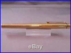 Sheaffer Targa Gold Geometric Fountain Pen-extra-fine point-NEW OLD STOCK-#1007