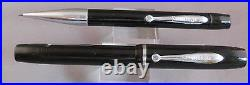 Sheaffer Vintage Black Junior Flat top Fountain pen and Pencil-fine point