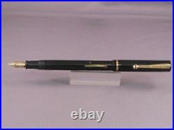 Sheaffer Vintage Flat Top Black Fountain Pen-extra-fine point