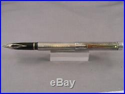 Sheaffer Vintage Targa Sterling Silver Fountain Pen-fine point