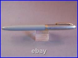 Sheaffer Vintage White Dot Gray Snorkel fountain pen-working -F-4 fine point