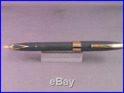 Sheaffer Vintage White Dot Gray Touchdown fill Fountain Pen-extra-fine point